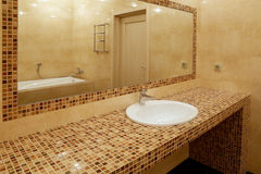 Fragment of luxury bathroom Royalty Free Stock Photography