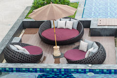 Fragment of a luxury resort pool Stock Photography