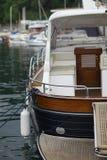 Fragment of luxury yacht Stock Photos