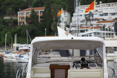 Fragment of luxury yacht Royalty Free Stock Photography