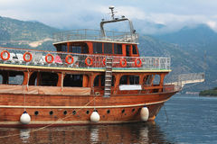 Fragment of luxury yacht Royalty Free Stock Photos