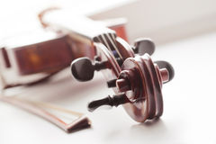 Fragment lying violin Stock Images
