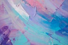 fragment Mångfärgad texturmålning abstrakt konstbakgrund Olja på kanfas Grova penseldrag av målarfärg Closeup av en paintin stock illustrationer