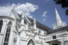 St Andrews Cathedral in Singapore. royalty free stock photography