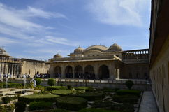 Fragment of Majestic Amer Fort in Jaipur Rajasthan India Royalty Free Stock Photo