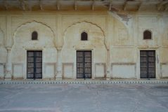 Fragment of Majestic Jaigarh Fort in Jaipur Rajasthan India Royalty Free Stock Images