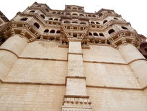 Fragment of Majestic Mehrangarh Fort located in Jodhpur, Rajasthan Royalty Free Stock Images