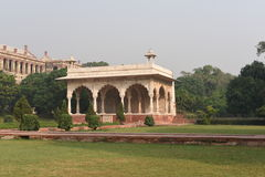 Fragment of Majestic Red Fort or Lal Qila in Delhi, India. It is a world heritage Site Stock Photo