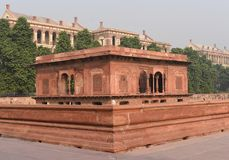 Fragment of Majestic Red Fort or Lal Qila in Delhi, India. It is a world heritage Site Royalty Free Stock Image