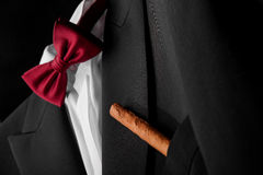 A fragment of the male costume Royalty Free Stock Images