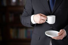 Fragment of a man in a business suit Stock Photography