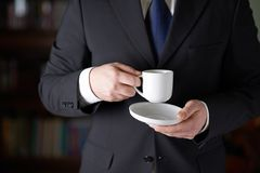 Fragment of a man in a business suit Royalty Free Stock Photos