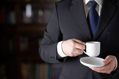 Fragment of a man in a business suit Royalty Free Stock Images