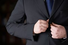 Fragment of a man in a business suit Royalty Free Stock Image