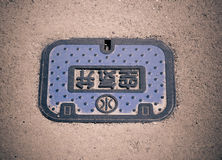 Fragment manhole cover Stock Images
