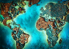 Fragment of a map of the world Royalty Free Stock Photo