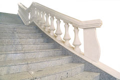 Fragment of a marble staircase Stock Photo