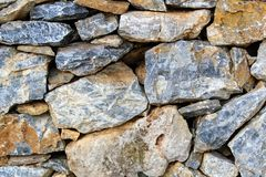 Fragment of the masonry of the castle wall in Alanya Turkey. Royalty Free Stock Image