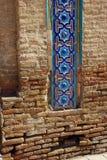Fragment of masonry and mosaic Rukhabad Mausoleum royalty free stock image