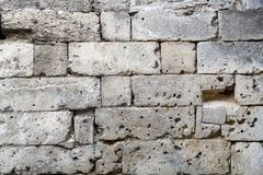 Fragment of the masonry of the old wall.Texture Stock Images