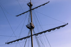 Fragment of mast of the old ship Royalty Free Stock Photography