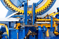 Fragment of mechanical machine in factory Stock Photo