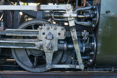 Fragment of mechanism old locomotive Stock Photos