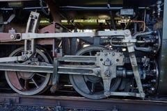 Fragment of mechanism old locomotive Stock Image