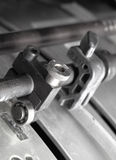 Fragment of mechanism printing press Royalty Free Stock Image