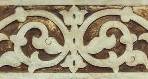 Fragment of medieval Arabic ornament Stock Image