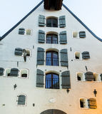 Fragment of medieval building in old Riga city, Latvia Royalty Free Stock Images
