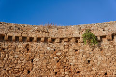 Fragment of a medieval defensive wall Stock Image