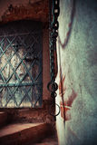 Fragment of medieval dungeon prison. Stock Images