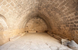 Fragment of medieval fortress' interior Stock Photo