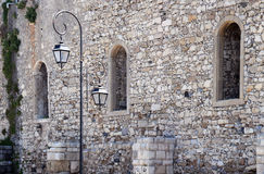 Fragment of Medieval Wall in Heraklion Stock Photo