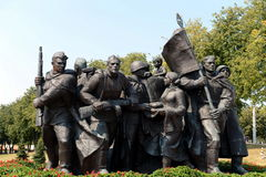 Fragment of the memorial `Liberators of Vitebsk - Soviet soldiers, partisans and underground` Stock Photography