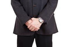 Fragment of men's clothing Stock Photos