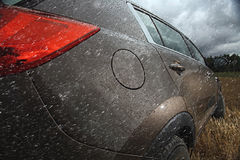 Fragment of metal car Royalty Free Stock Photography