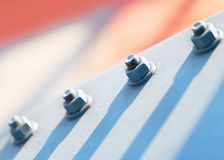 Fragment of a metal construction Stock Image