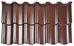 Fragment of a metal covering for a roof Stock Image