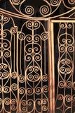 Fragment of the metal door lattice Stock Image