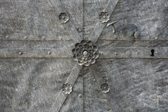 A fragment of metal doors. Royalty Free Stock Images
