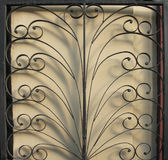 A fragment of metal gate. Royalty Free Stock Photography