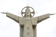 A fragment of a 30-meter sculpture of Jesus Christ. Vung Tau, Vietnam Stock Photography