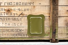 Vintage old military box green storage ammunition lock cloth scratches war dirty broken conflict homeland weapons men stock image