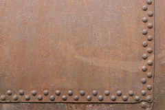 Fragment mit Nieten Stockfoto