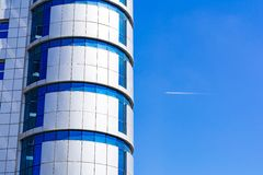 Fragment of modern apartment house Royalty Free Stock Photography