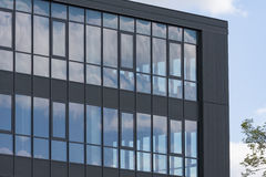 Fragment of modern architecture office building Stock Photos