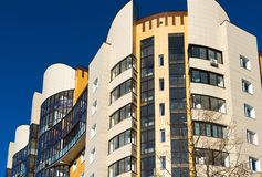 Fragment of modern beautiful apartment house Stock Images