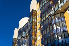 Fragment of modern beautiful apartment house Stock Photo